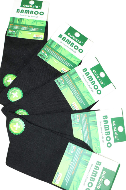 Bamboo Black bambusové ponožky - 5Pack lacná bielizeň  c7e52a6033