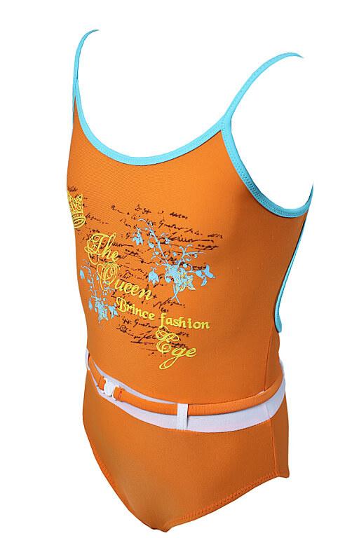 a2d39f227 Adéla dievčenské plavky oranžová veľkosť: 5-6 rokov | eKAPO.sk
