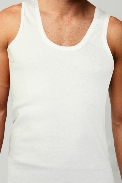 a0ba4c05e35c Yily White pánske tielko hladké - bavlna biela veľkosť  4XL