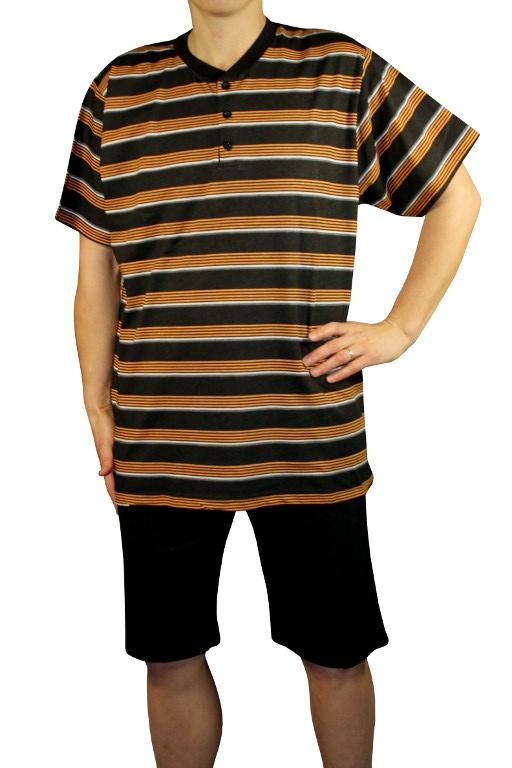 90140da970c6 Cedric pánske pyžamo - 3 4 nohavice čierna veľkosť  L